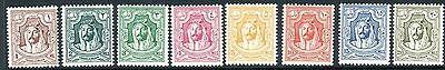TRANSJORDAN-1942  A mounted mint set to 20m Sg 230-37