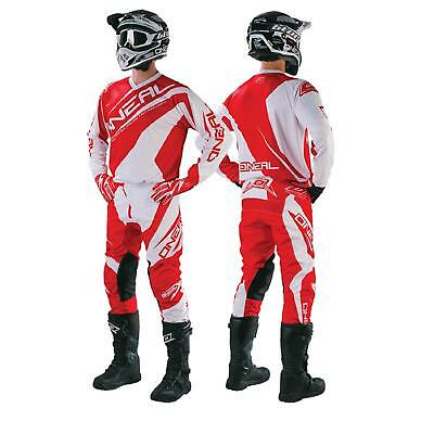 O'Neal Element Racewear Rot Combo Hose Jersey Handschuh Set Moto Cross MX Enduro