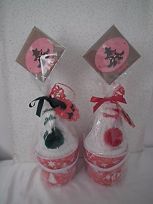Baby GIRL/BOY Christmas Bucket Gift with cute pixie hat /Baby first xmas bauble