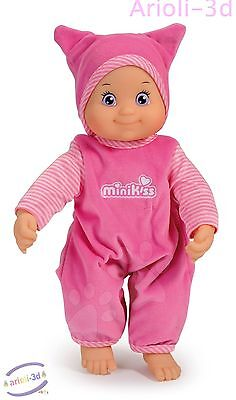 Minikiss Doll By Smoby Press Tommy To Receive A Kiss 10 1/2'' New Baby First Toy