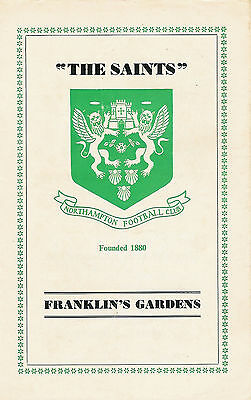 Northampton vCardiff 8 Oct 1966 RUGBY PROGRAMME