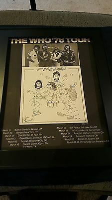 The Who By Numbers 1976 Tour Rare Original Promo Poster Ad Framed!