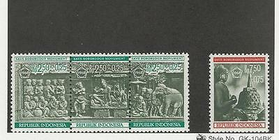 Indonesia, Postage Stamp, #B211-B214 Mint NH, 1968