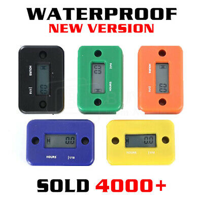 Inductive Waterproof Hour Meter for Marine ATV Motorcycle Dirt Ski Gas Engine AU