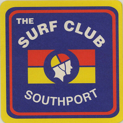 Coaster: The Surf Club, Southport. SLSC.