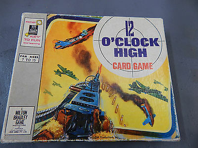 12 O'CLOCK HIGH card game 1965 by Milton Bradley
