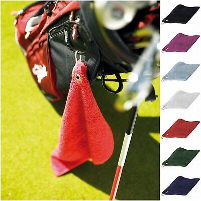 Luxury Golf Towel With Bag Clip Attachment 7 Colours Free PnP