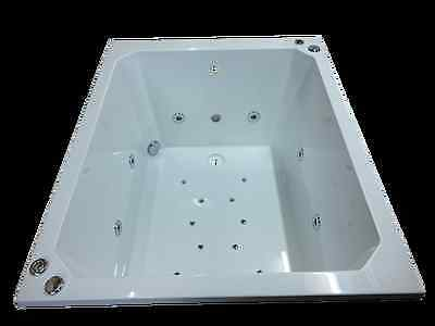 20 Jet Oriental Deep Soaking Japanese Whirlpool Bath 1200 x 1000 mm Jacuzzi Spa