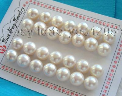 Wholesale 14pairs Natural 13mm White Pearl Eearrings!