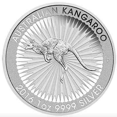 SILVER BULLION DOLLAR  AUSTRALIAN KANGAROO 1oz COIN IN INVESTMENT 2016