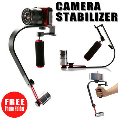 Pro Red Handheld Video Stabilizer For Canon Nikon Digital Camera Gopro phone UK