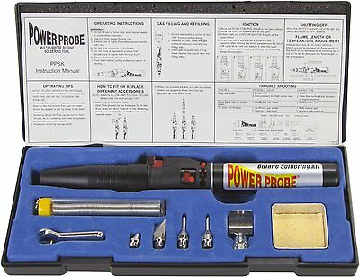 Power Probe PPSK Butane Soldering Kit PPSK Electronic ignition and flame Black