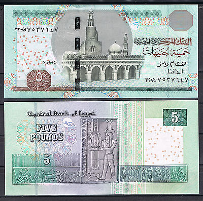 EGYPT - 5 POUNDS  2015 Pick New  UNCIRCULATED