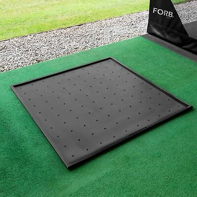 FORB Rubber Golf Mat Base [1.5m x 1.5m] - Golf Practice Mat Anti-Skid Protection