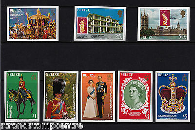 Belize - 1979 25th Anniversary of the Coronation - U/M - IMPERF - SG 495-502