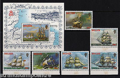 Belize - 1981 Sailing Ships - U/M - SG 671-6 + MS677