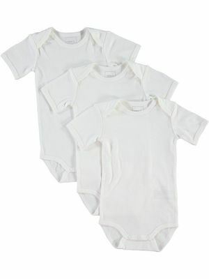NAME IT 3er kurzarm Basic Body Set in weiß Größe 50 bis 98