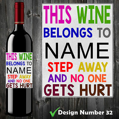 10 Personalised Funny Wine Bottle Label Birthday Christmas Gift