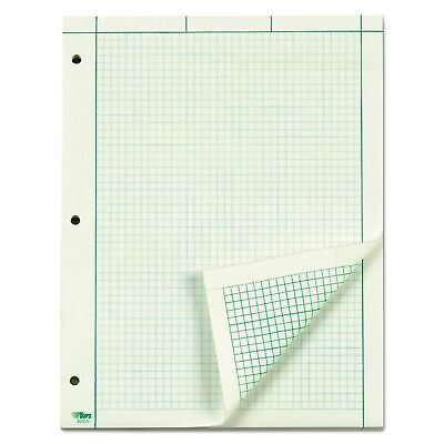 Tops Engineering Computation Pad Quad Rule Letter  Green 100 Sheets/Pad NEW