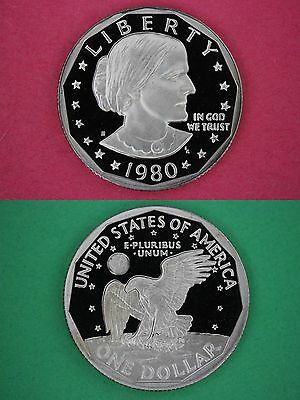 1980 S Proof Susan B Anthony Dollar Deep Cameo Flat Rate Shipping