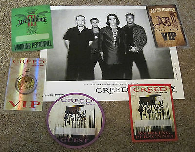 Creed - Alter Bridge Backstage pass and photo collection