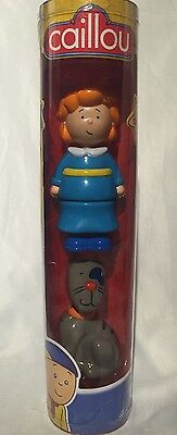 "Caillou Figure Tube 4.5"" Rosie & 3.5"" GILBERT THE CAT Figurine Toy Play Set New"