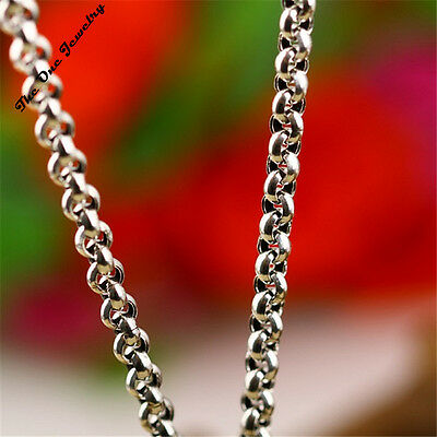 925 2.1 mm Solid Sterling Silver Belcher Chain Link Necklace Presents 18-28 Inch