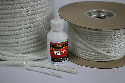 Stove Rope Door Seal Log Woodburner Stove Oven Glass Fire Glue 5,6 8,10,12 25Mm