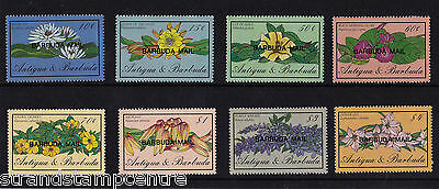 Antigua & Barbuda - 1986 Flowers - U/M - SG900-7 + MS908(2)