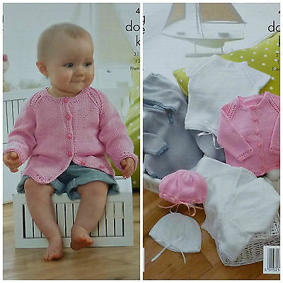 KNITTING PATTERN Baby Cardigans, Hats, Hoodie and Top DK King Cole 4191