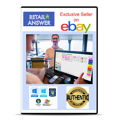 Retail Answer POS software CD Cash Register Billing Point of Sale with Inventory