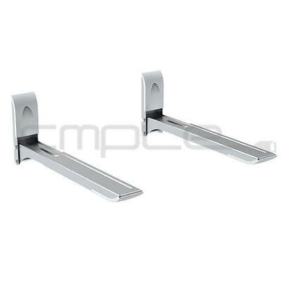 Shelf Wall Mount Bracket Under TV Component Cable Box DVR DVD Microwave