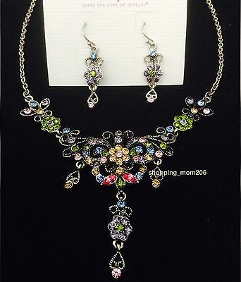 Lia sophia happy hour necklace and earrings set 5499 picclick lia sophia bella cut crystals earrings and necklace set aloadofball Image collections