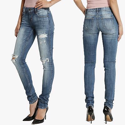 1e10c640ee92f TheMogan Junior PLUS 0~3X Distressed Destroyed Ripped Medium Washed Skinny  Jeans