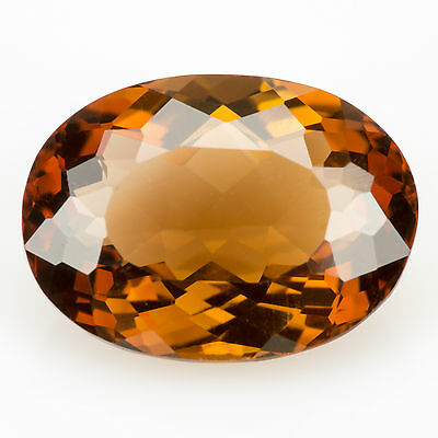 6.90 ct Precious Topaz Oval cut 13.8x10.0mm VS loose natural gemstone Brown