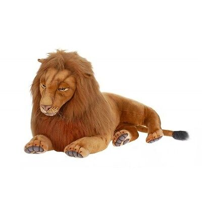 """Lion  Laying  39"""" L By Hansa"""