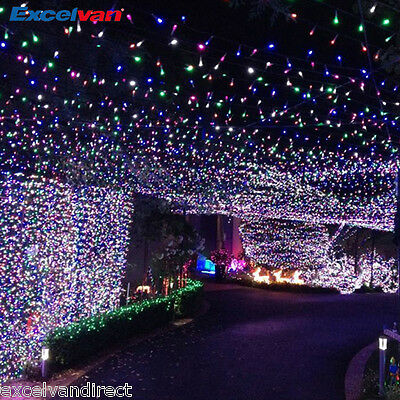 164ft 50M 250LED String Fairy Lights Christmas Xmas Wedding Party Garden Outdoor