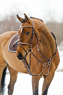 Horze Leather Constance Bridle  Raised Leather Flash Noseband
