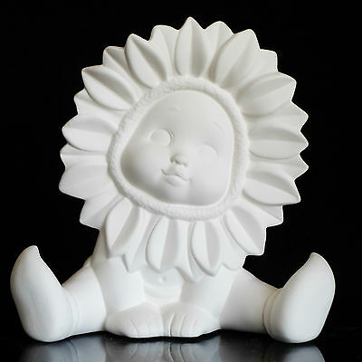 Ready to Paint Ceramic Bisque Sunflower Baby Sitting Close Arm 15 cm Tall