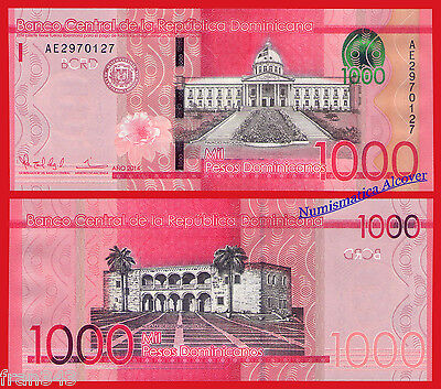 REPUBLICA DOMINICANA DOMINICAN REPUBLIC 1000 Pesos 2014 2015 Pick NEW - UNC