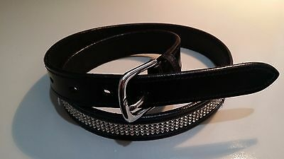 Horse riding belt with 4 rows of crystals 38""