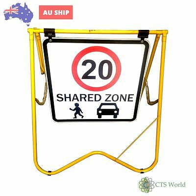 Tandem Road /Sign,Street Signage (Shared Zone 20Kph) (600Mmx600Mm)