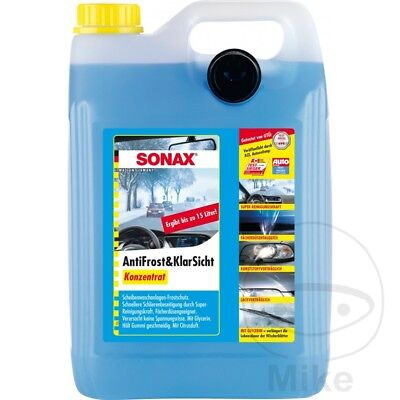 Sonax Car, Motorcycle, Windscreen Washer Cleaner With Antifreeze (5L) Citrus