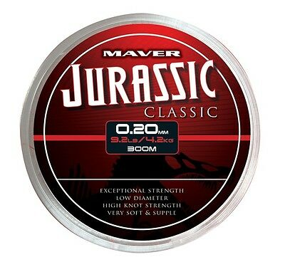 Maver Jurassic Classic Reel Line - Choice of 5 sizes - 300m Spools!
