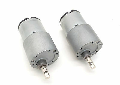 12V DC Servo Motor with 417:1 Ratio Gear Box  Pair with Free Shipping
