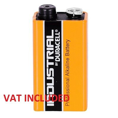 6x Duracell 9V PP3 Industrial Procell Batteries,Smoke Alarm (LR22 BLOC MN1604)