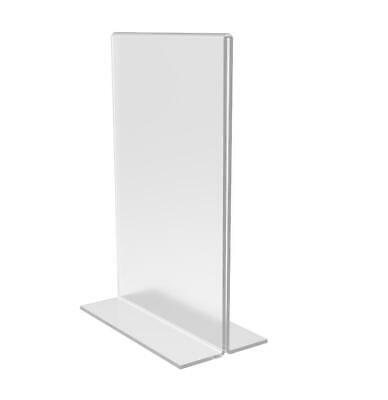 6-pack Clear Acrylic Table Tent Frame photo sign menu holder Clear