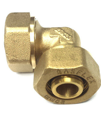 """. gas Flex 1/2"""" ELBOW BRASS FITTING for gasFlex piping system 1216  pipe"""