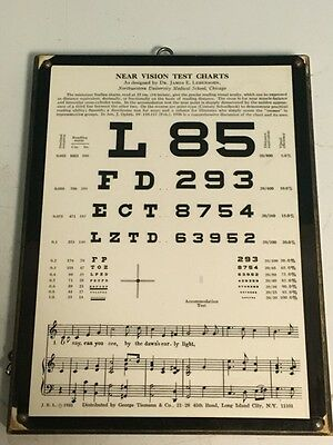 Wooden Near Vision Test Chart