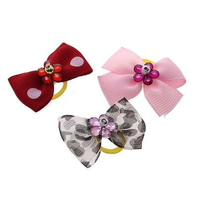 Cute Lovely Pet Bow Tie Dog Puppy Cat Grooming Hair Clip Hairpin Topknot Bowknot